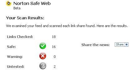 Escanea tu Facebook con Norton Safe Web