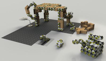 Roombots, robots en bloque que se convierten en muebles con vida