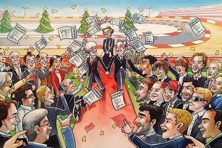 Bernie Ecclestone felicita la Navidad a su manera