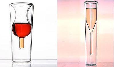 Copa de vino o cava en vaso