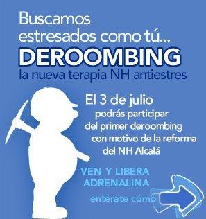 Deroombing: Nh hoteles te propone acabar con el stress a martillazos el 3 de julio