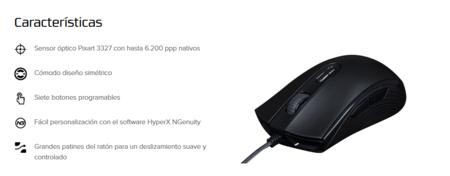 hyperx pulsefire core características