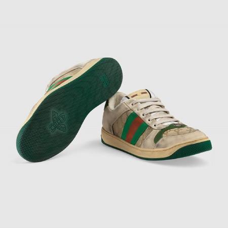 Las nuevas zapatillas de Gucci cuestan casi 700 euros y salen de la tienda con apariencia de haber sido ya usadas (y mucho)