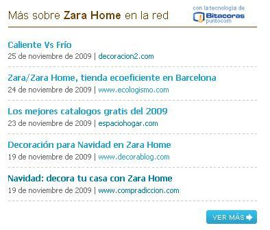 zara home en la red