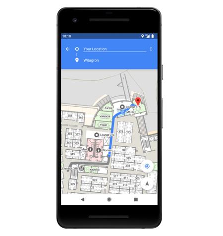 Android P Posicionamiento Interiores