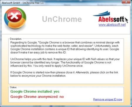 UnChrome hace Google Chrome aún más anónimo