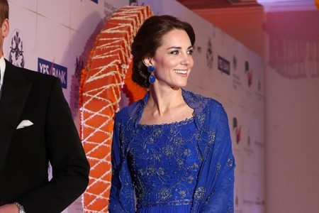 Kate Middleton como una actriz de Bollywood en Bombay