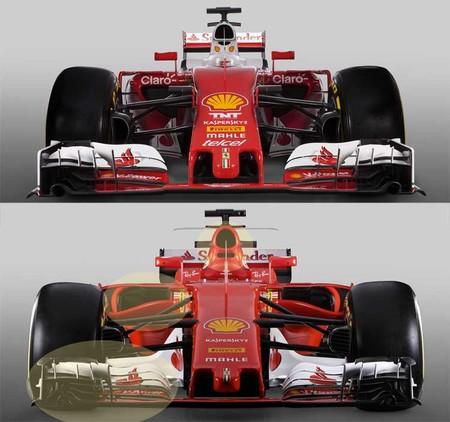 Ferrari, comparación frontal