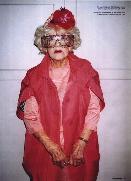 Foto de Dazed & Confused enero 2008 - abuelas fashion (7/10)