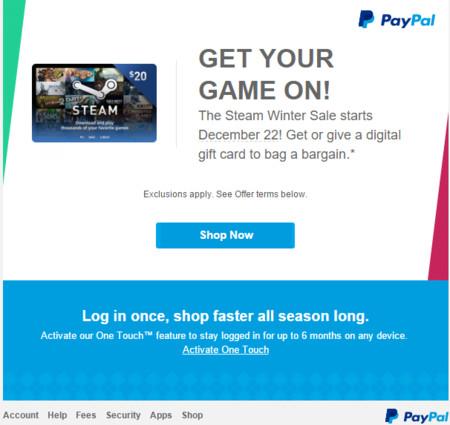 Steam Rebaja Invierno 2015 Paypal Filtracion