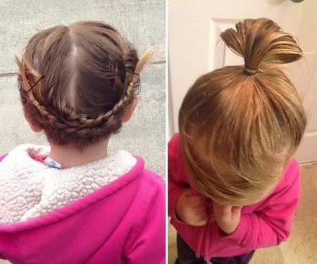 Dad Does Daughter Ponytail Cosmetology School Greg Wickherst 4