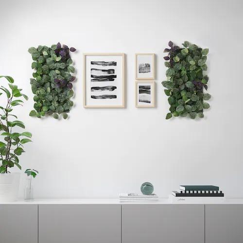Planta artificial, de montaje en pared/int/ext verde/violeta26x26 cm