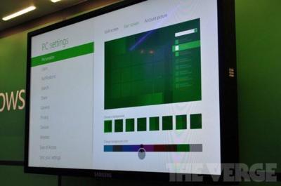 Aparecen imágenes de la pantalla de personalización de Windows 8