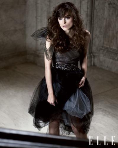 Keira Knightley en la portada de Elle, tulle