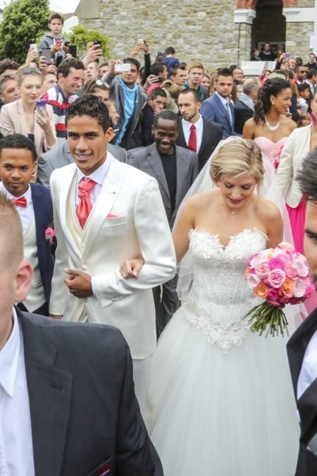 Raphael Varane y Camille Tytgat