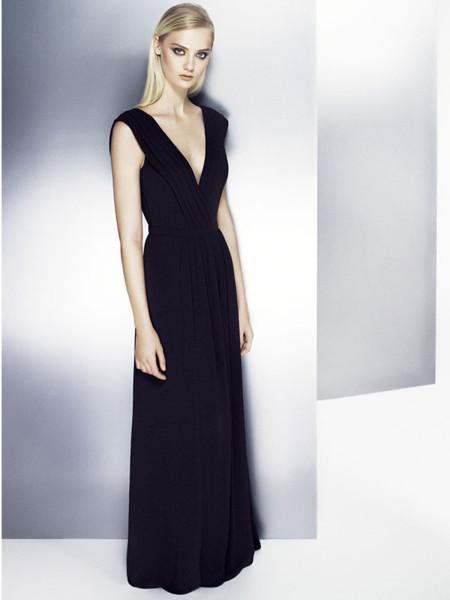Mango diciembre vestido largo negro