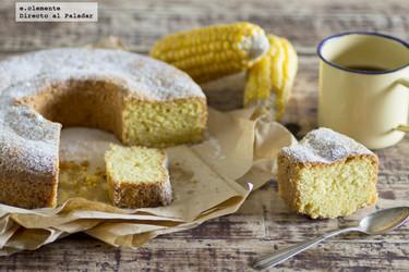 Bizcocho de harina de maíz y limón. Receta