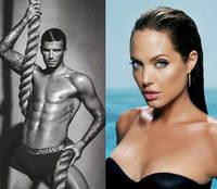 David Beckham y Angelina Jolie juntos para Armani