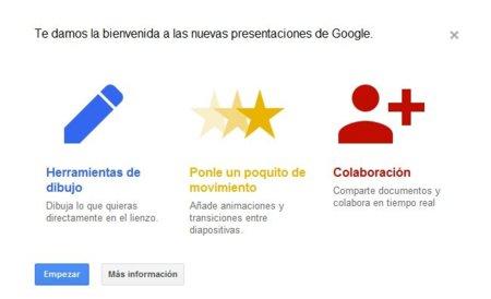 Google renueva la aplicación de presentaciones de Google Docs