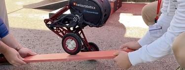 Las patas de este robot tienen ruedas para mejorar su velocidad, pero más alucinante es aún la estabilidad que consigue