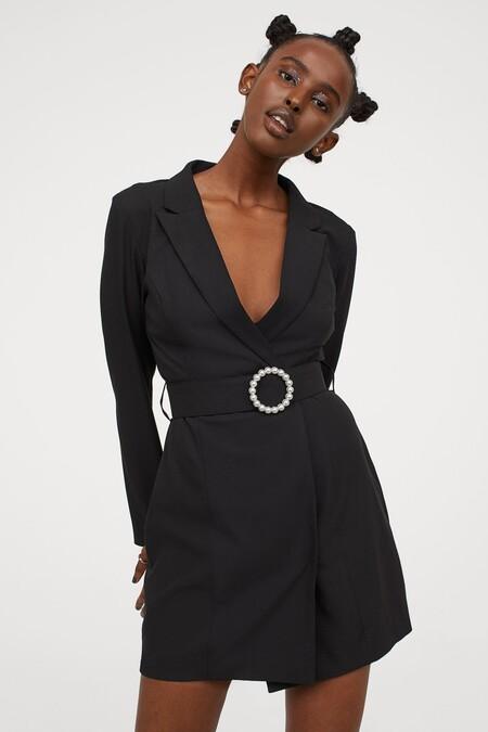 Vestido Navidad 2020 Hm Negro 04