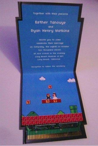 Super Mario invitaciones de boda