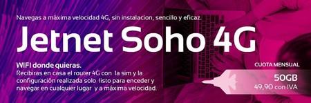 Jetnet dobla los gigas de todas su tarifas y estrena servicio con 50 GB para el hogar