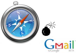 Safari 3.1 no se lleva bien con Gmail