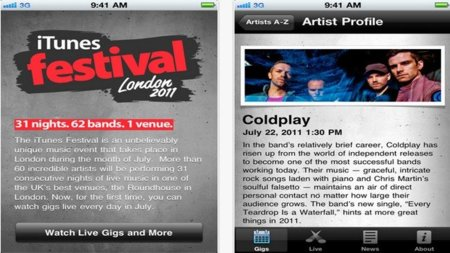 El iTunes Festival 2011 de Londres será retransmitido en streaming a los terminales móviles de Apple