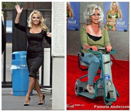 Pamela Anderson de anciana