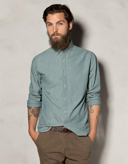 Camisa Heritage azul claro