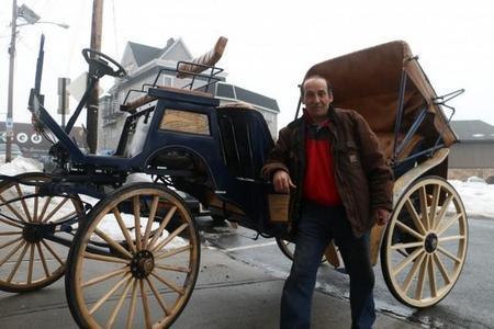 Así podrían ser los coches de caballos, sin caballos, de Central Park