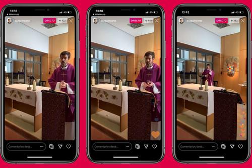 Si Dios está en todas partes, ahora también en Instagram: las redes sociales se llenan de misas online durante la cuarentena