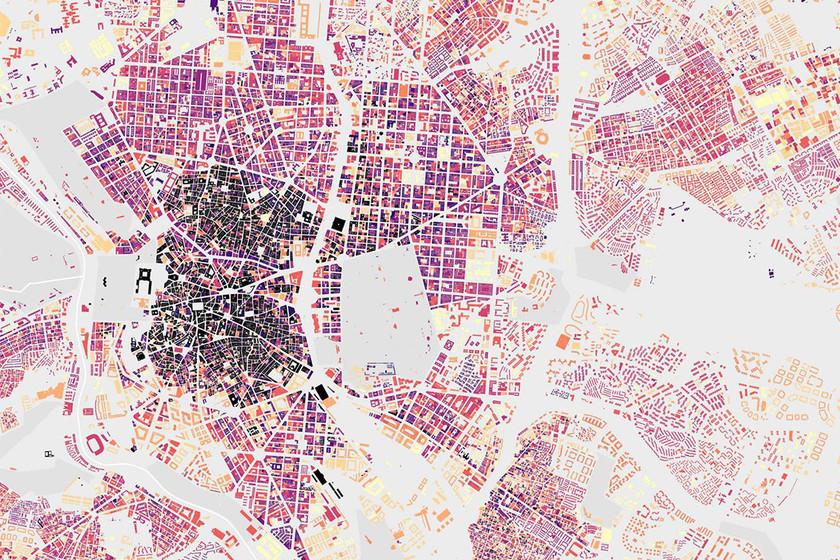 El envejecimiento de las ciudades españolas, ilustrado en estos mapas a través de sus edificios