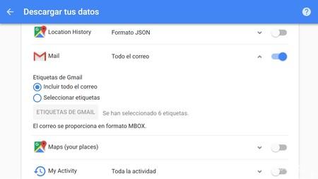 Selecciona Gmail