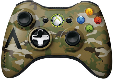 Xbox 360 Green Camouflage