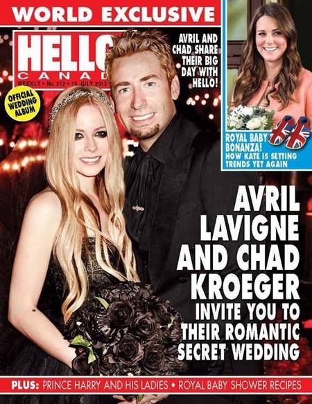 """Y llegó la exclusiva """"más negra"""" de la boda de Avril Lavigne"""