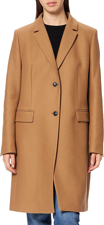 Tommy Hilfiger TH ESS Wool Blend Classic Coat Chaqueta para Mujer