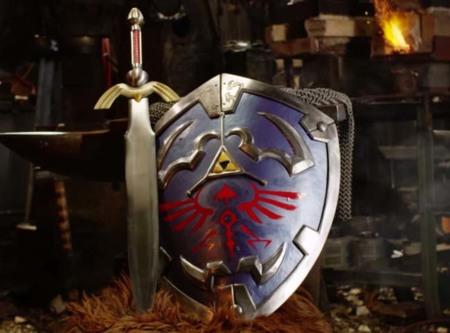 Man at Arms recrea el escudo de Link en tamaño real