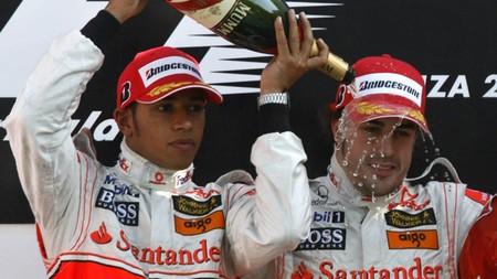 Hamilton Alonso Italia F1 2007