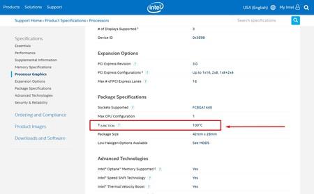 Intel Tjunction
