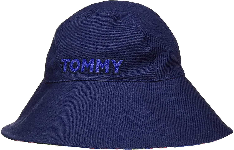 Tommy Hilfiger Feminine Summer Hat Sombrero de Fieltro, Azul, Talla única (Talla del Fabricante:) para Mujer