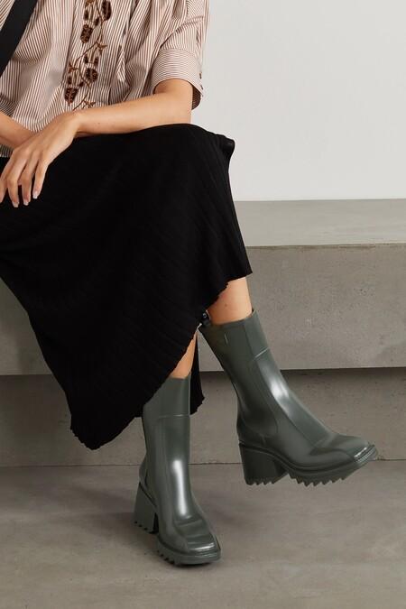 Chloe Rain Boots Betty Green