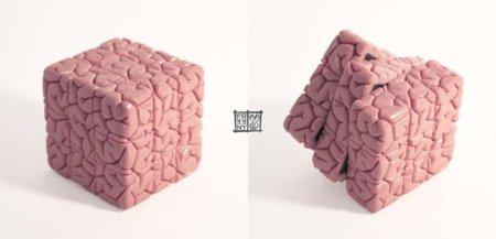 Un cubo de Rubik muy cerebral