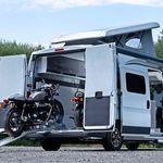 La Citroën Jumper Biker Solution es más que una camper, es una caravana con sitio para dos motos