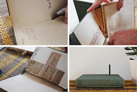 Esconder el router dentro de un libro