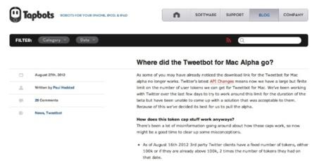 Tweetbot para Mac cierra su versión Alfa por las nuevas limitaciones en la API de Twitter
