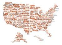Mapa de los nombres nativos de Estados Unidos