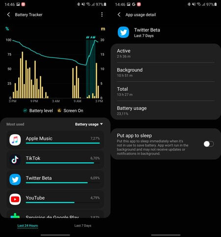 Samsung Galaxy Labs Battery Tracker