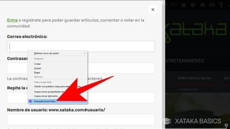 Generar Email